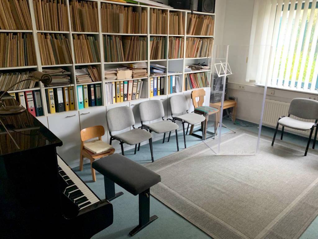 Musikraum-Klavier
